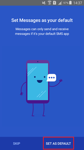 Android Messages send text via pc